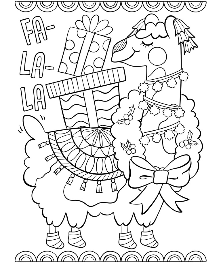 Fa La La Llama Coloring Page Crayola Com