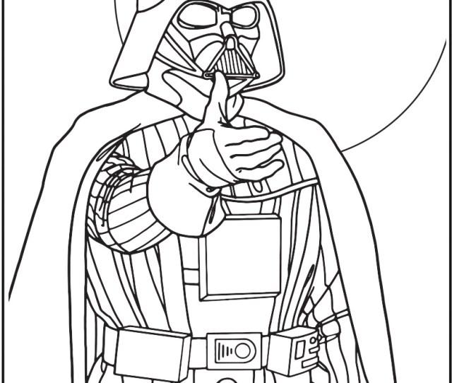 Star Wars Darth Vader Coloring Page Crayola Com