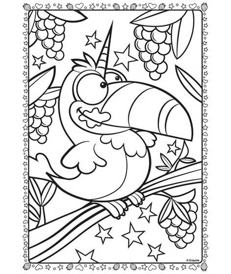 unitoucan coloring page  crayola