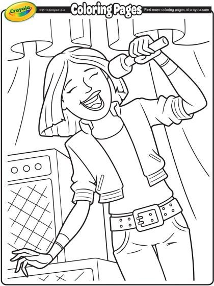 Lead Singer Coloring Page | crayola.com