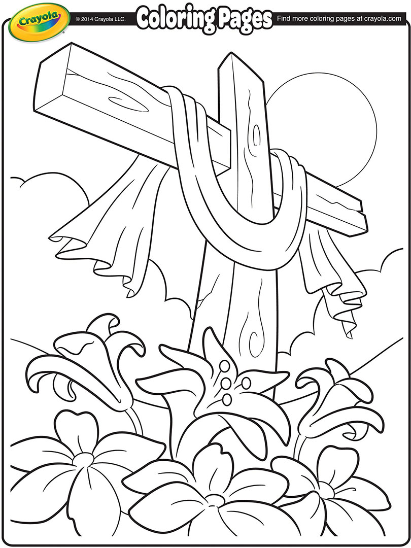 easter cross coloring page  crayola