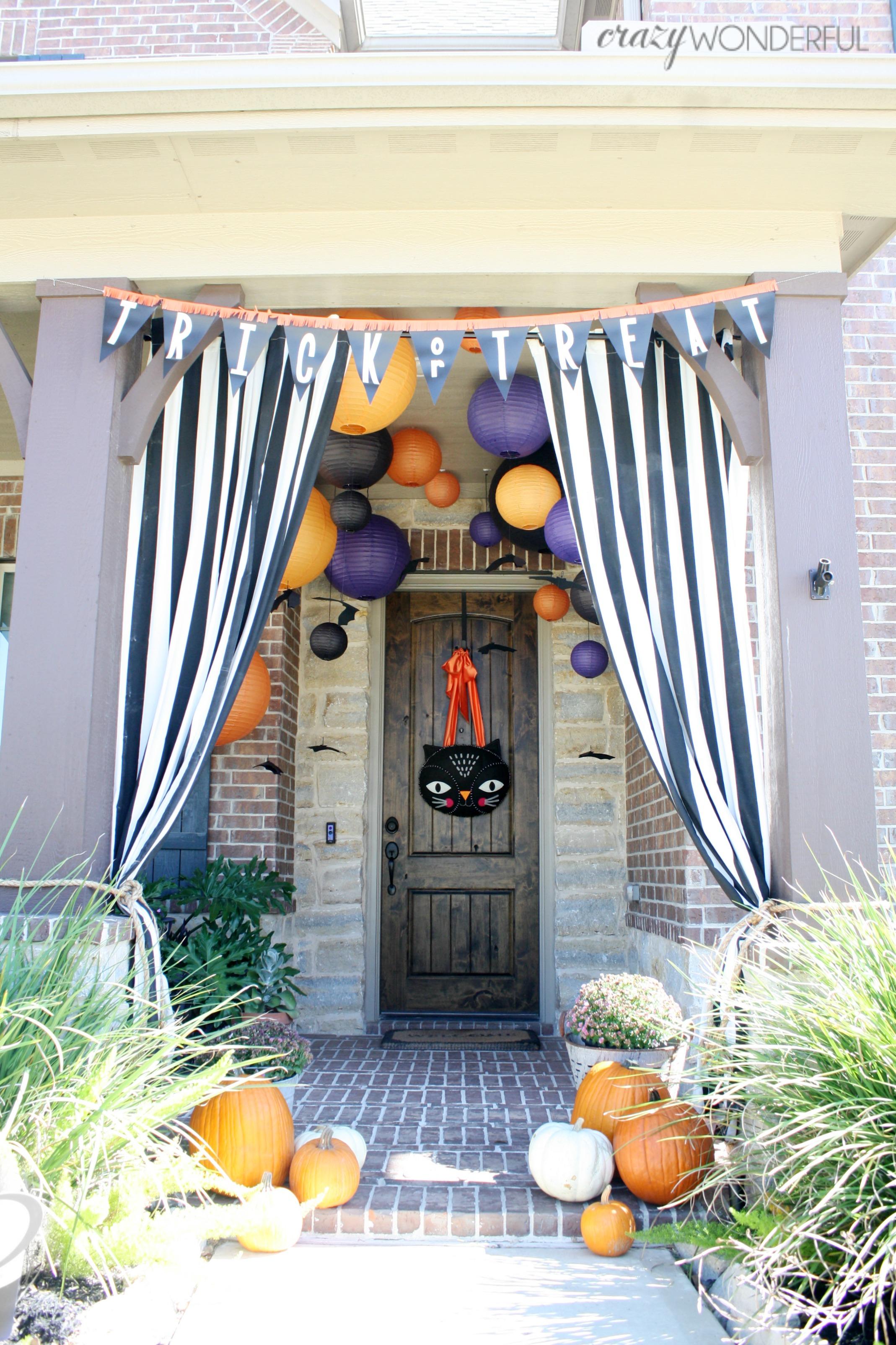 Halloween Porch Decorations Crazy Wonderful