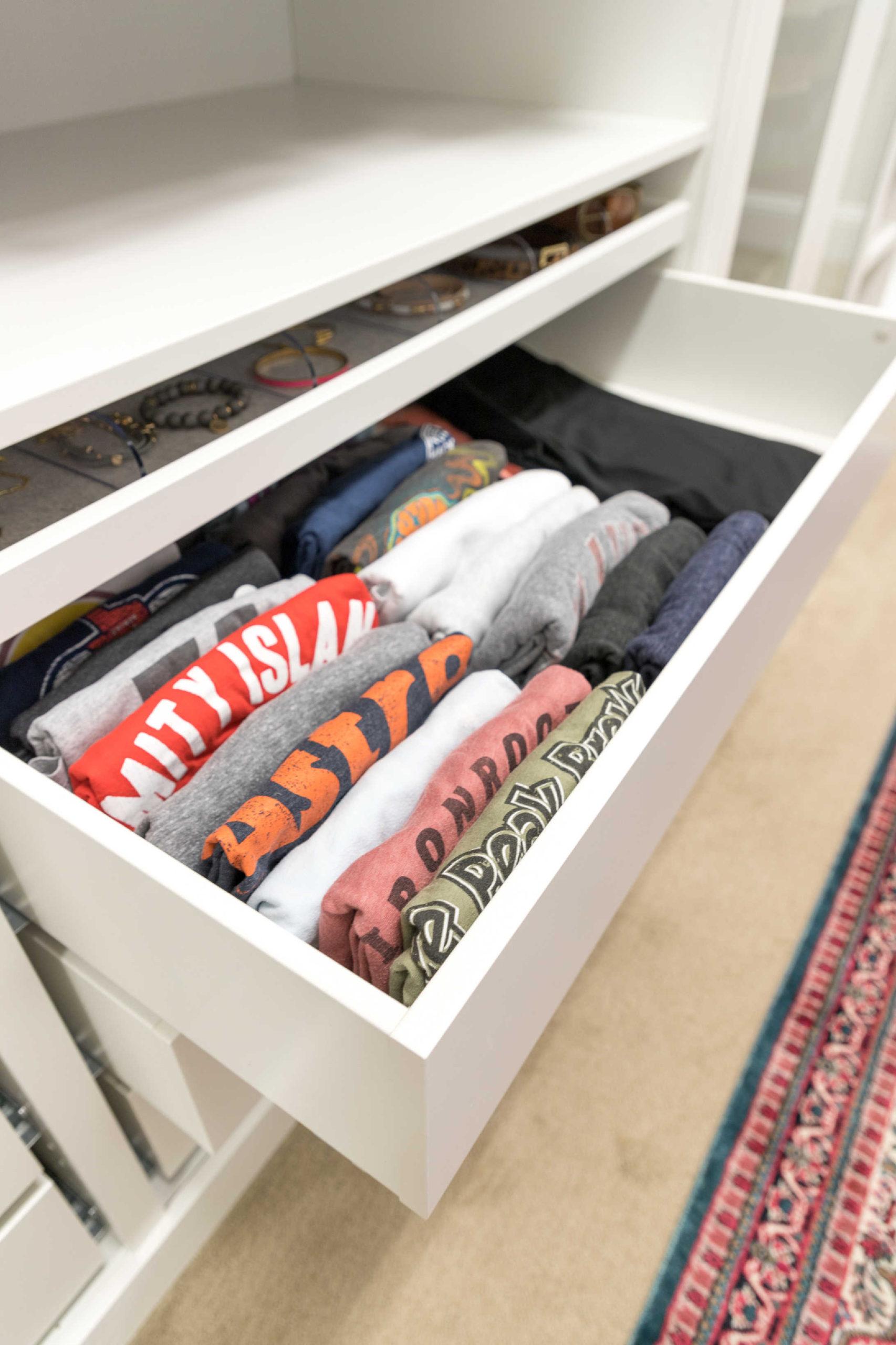 Marie Kondo folded shirts