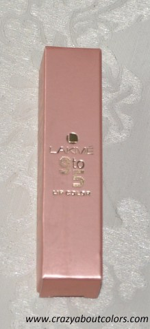lakme 9 to 5 lipcolor pink power