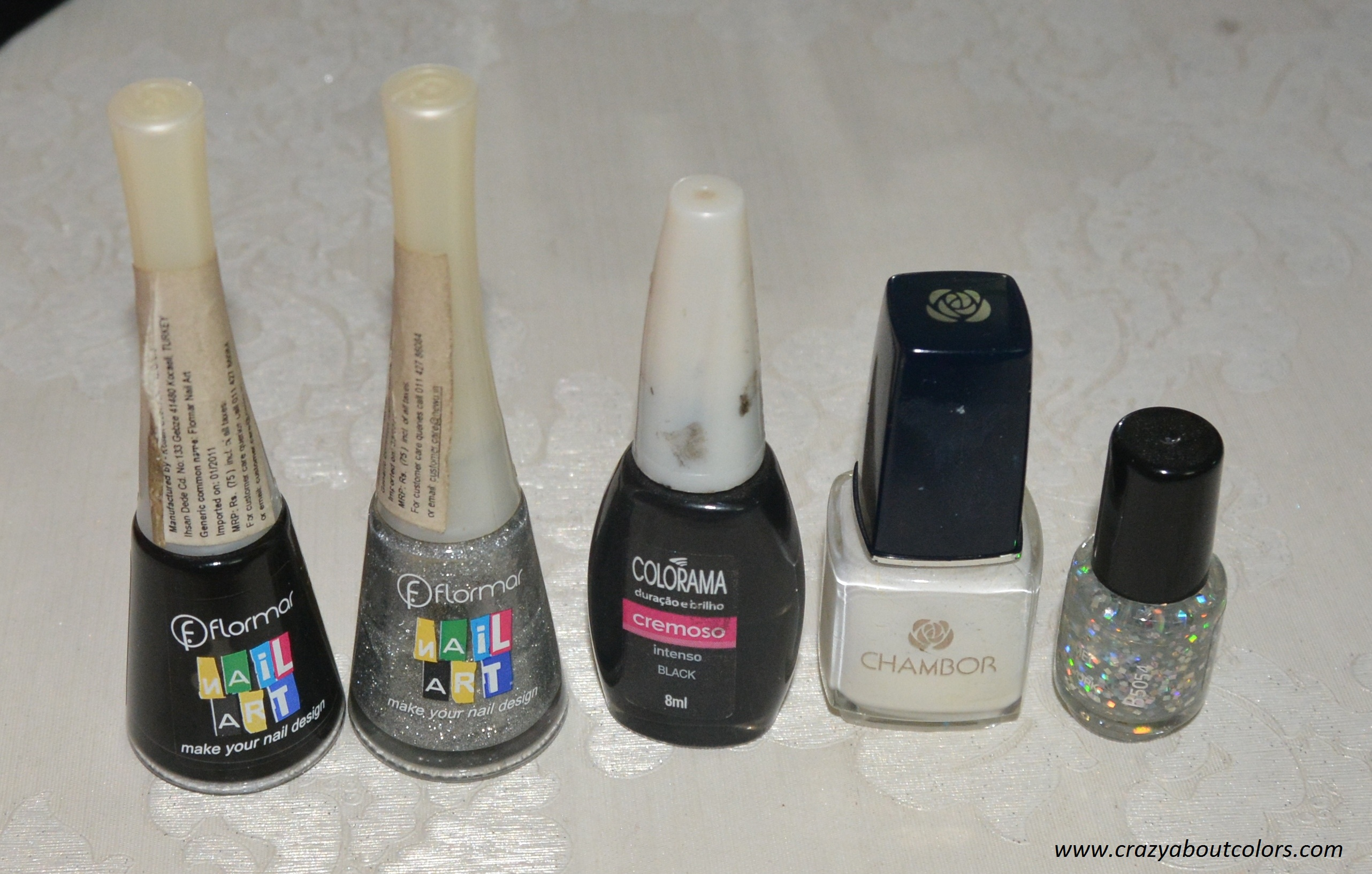 Black and White Nail Art - Crazy about Colors