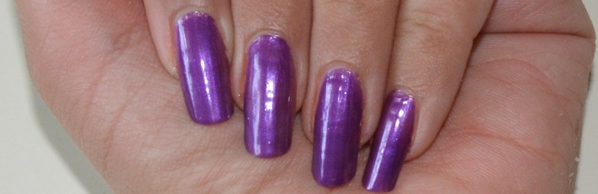 LYN Nail Lacquer in Black Current Bombshell