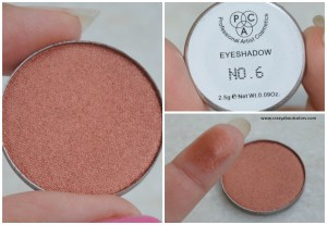 PAC Cosmetics sparkle eyeshadows 6