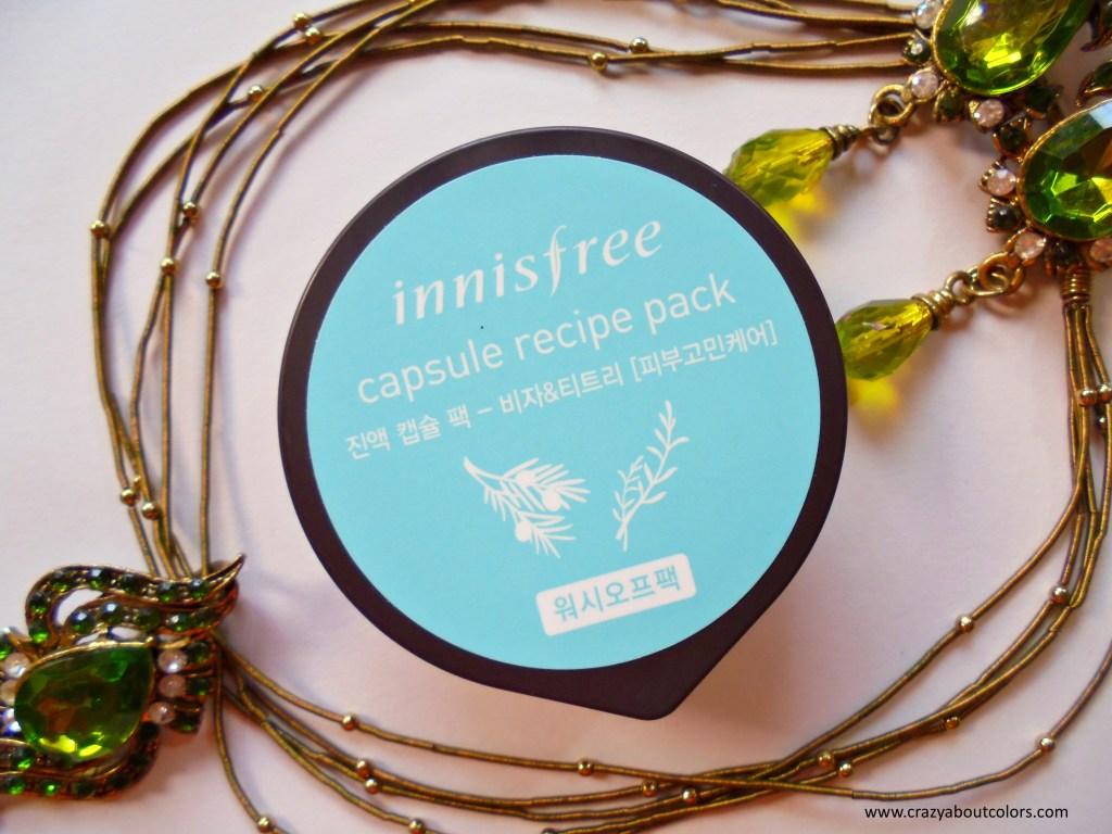 Innisfree Capsule Recipe Pack Bija & Tea Tree