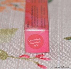 Nykaa Pout Perfect Crayon Lipstick Crushing On Pink