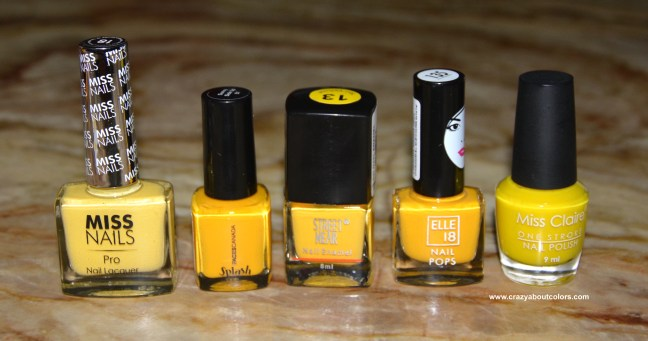 Affordable Yellow Nail Polish