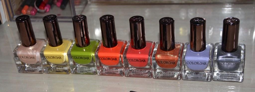Colorbar Nail Lacquer Nail Swatches