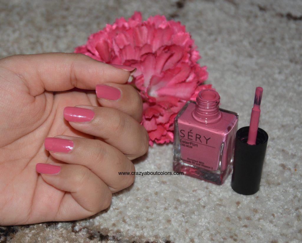 Sery colorflirt nail paint glazing pink