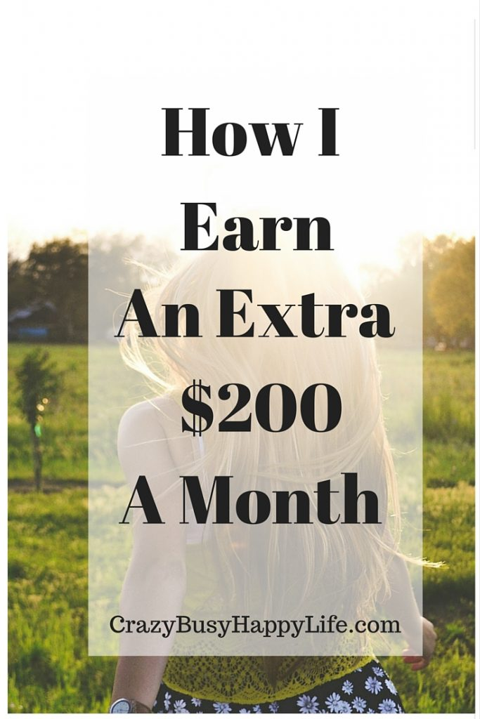 This is how I earn extra side income each month. This month I've earned a little over $200 but my next goal is $500. Click throug to read how I did it or pin now and read later.
