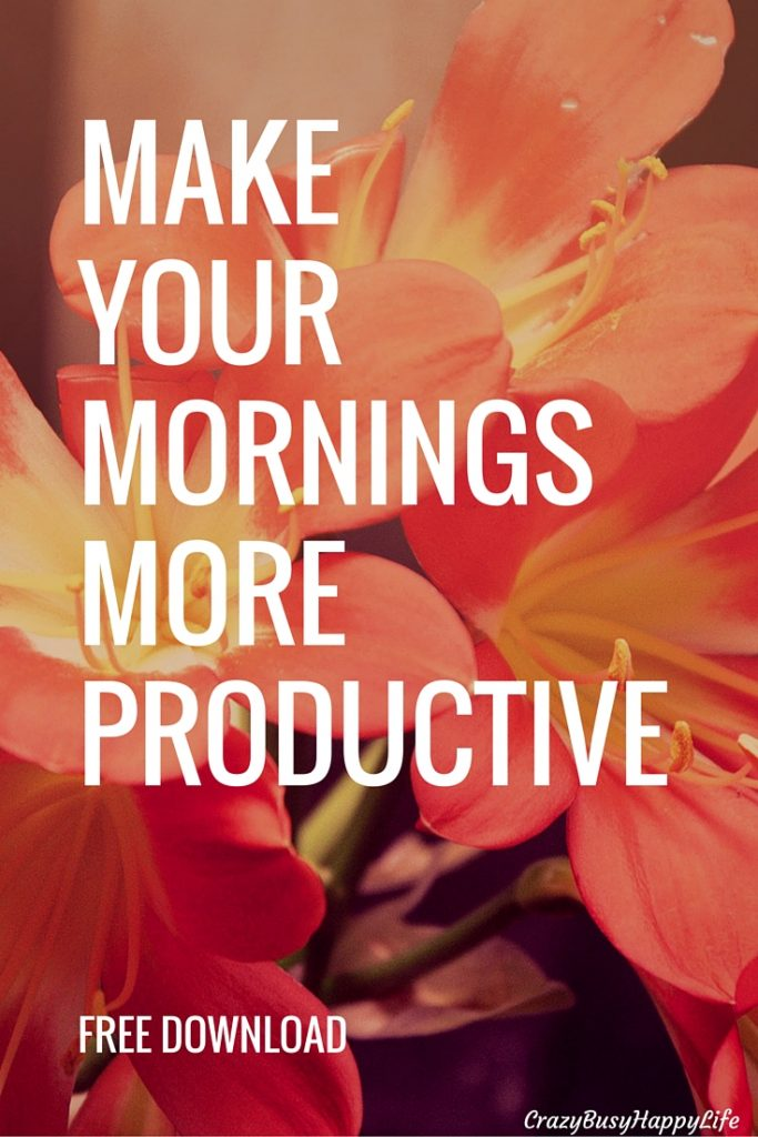 You deserve stress-free, productive mornings. It takes a little tweaking but once you design your perfect morning routine you'll be suprised at how productive you become. Read through the article and download the free schedule.