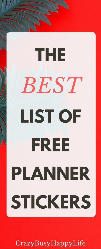 image relating to Happy Planner Stickers Printable known as The Top Listing of Absolutely free Printable Planner Stickers -