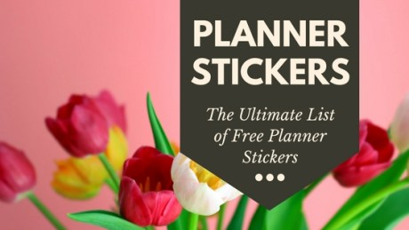 The ultimate list of free printable planner stickers