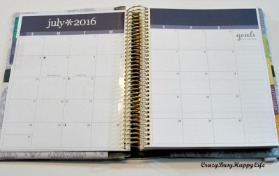 Overview of the Erin Condren horizontal layout. New 2016 - 2017 Life Planner