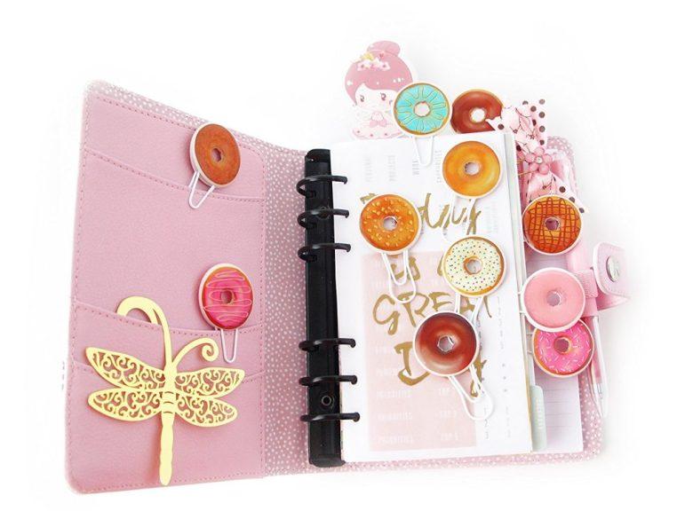 Doughnut planner clips