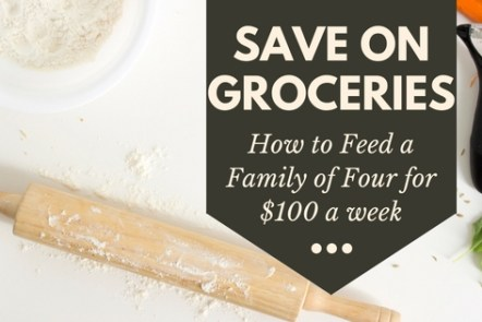 Save on groceries. How to feed a familhy of four for cheap.