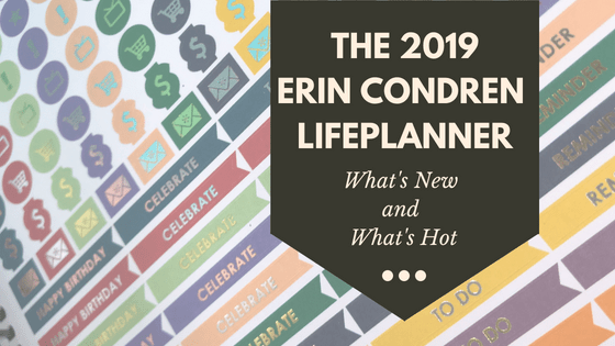 The 2019 Erin Condren Life Planner: What's New and What's Hot #ECLifePlanner