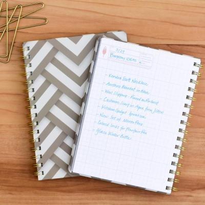 The InkWell hardbound notebook is perfect for bullet journals. It has grid lines and thick paper sheets.