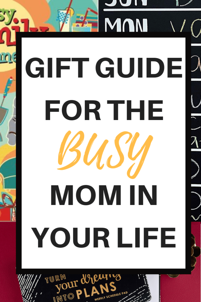 Gift guide for the busy mom in your life. Have a mom on your list who needs help organizing? Help her out with these thoughtful gifts. #mom #gift #giftguide #christmas #holiday #christmas #planner #calendar #plannerformom #familycalendar #familyplanner