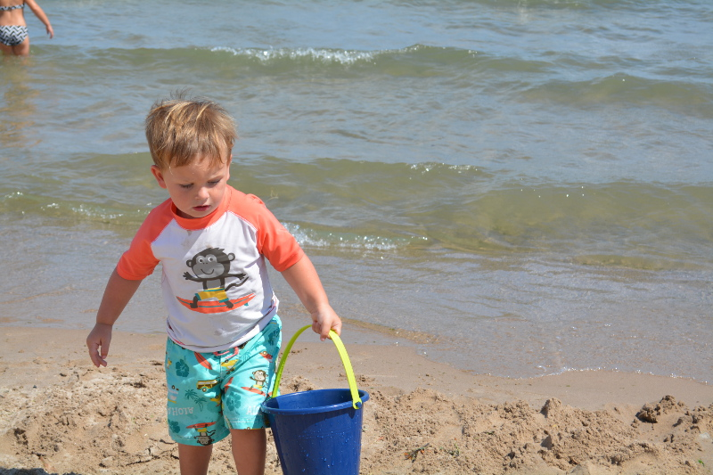 Playing At The Beach.