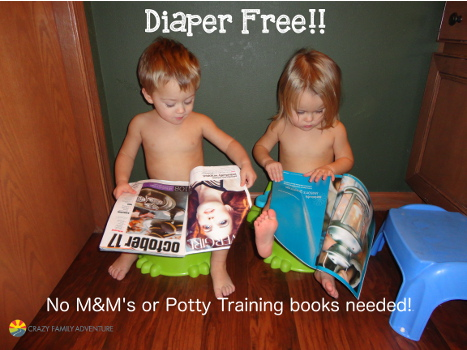 Diaper free without any M&M's or potty training books