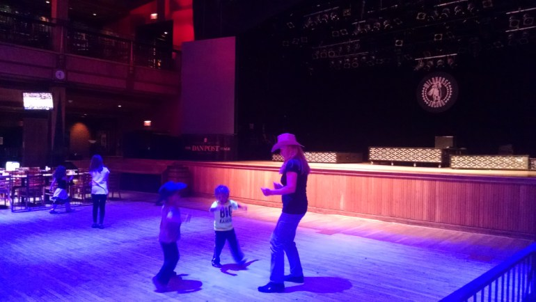 Dancing to country music is a fun thing to do in Nashville with kids