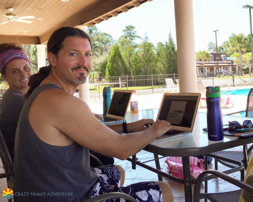 Working while we full time family travel