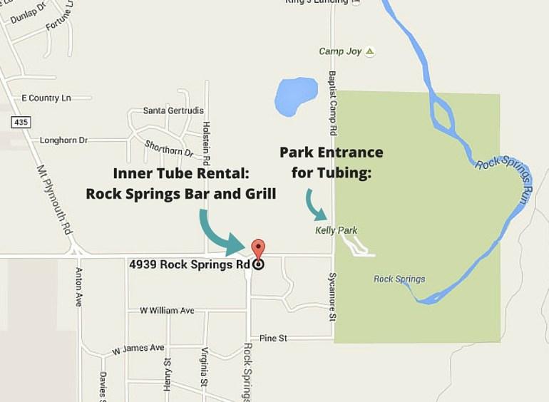 Inner Tube Rental_ Rock Springs Bar and Grill