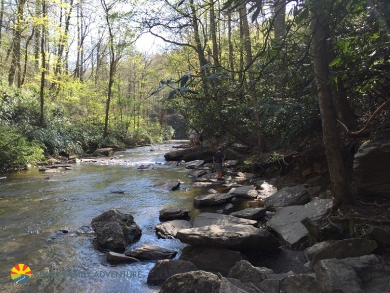 Hiking With Kids By Asheville Looking Glass Falls2