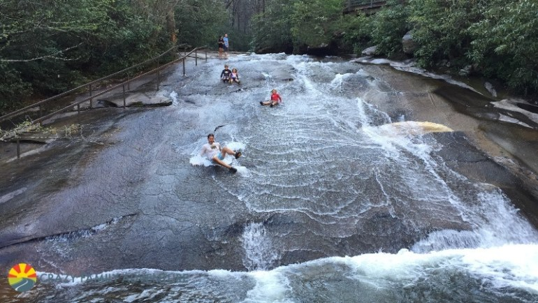 Hiking With Kids By Asheville Sliding Rock