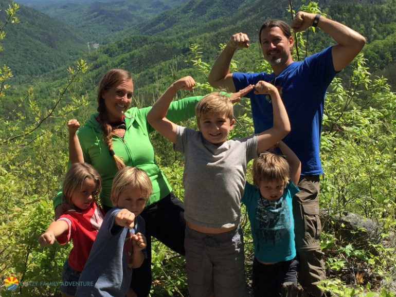 Showing the guns in the Smoky Mountains!
