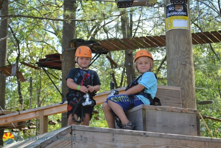 Resting on the ropes course