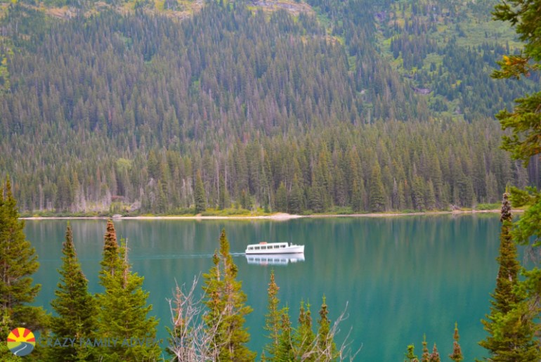 The ferry is another way to get to Grinnell Lake in Glacier National Park