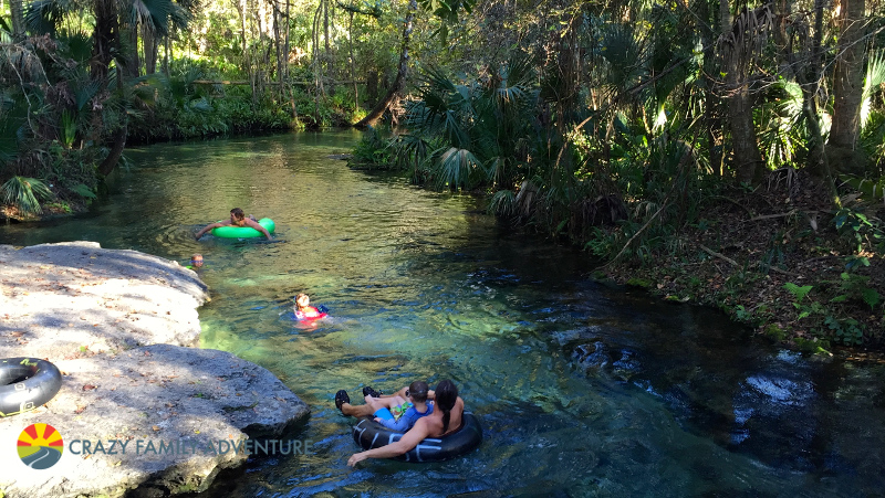 Tubing at Kelly Rock Springs on The Ultimate Florida Road Trip