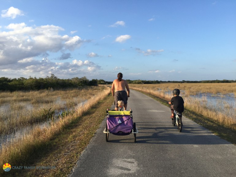 Biking through Shark Valley in the Everglades on The Ultimate Florida Road Trip