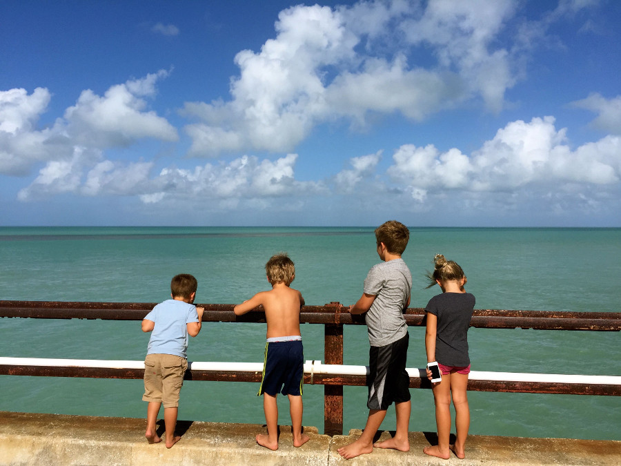 Checking out the 7 Mile Bridge on The Ultimate Florida Road Trip