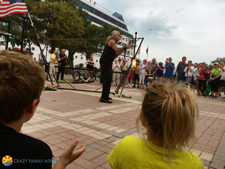 Mallory Square street performers on The Ultimate Florida Road Trip