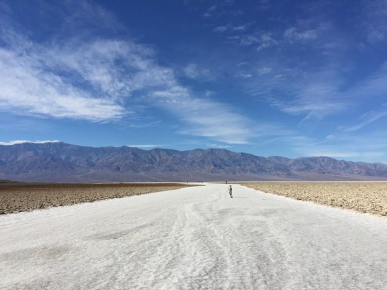 Walking the salt bed in Death Valley National Park