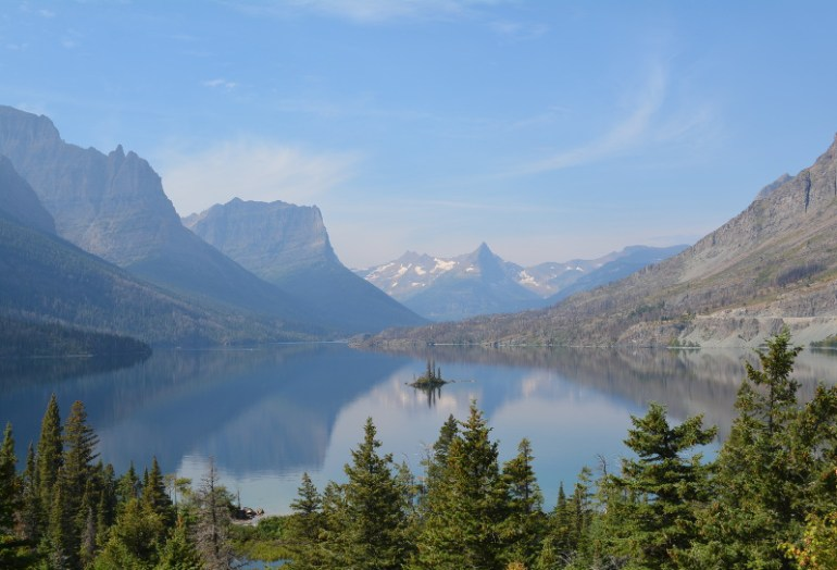 Take in all the amazing views at Glacier National park with your kids.