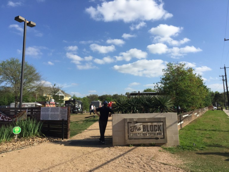 The Block is a great place to visit in San Antonio with kids because there are several outdoor games to play as well as unbelievable food options