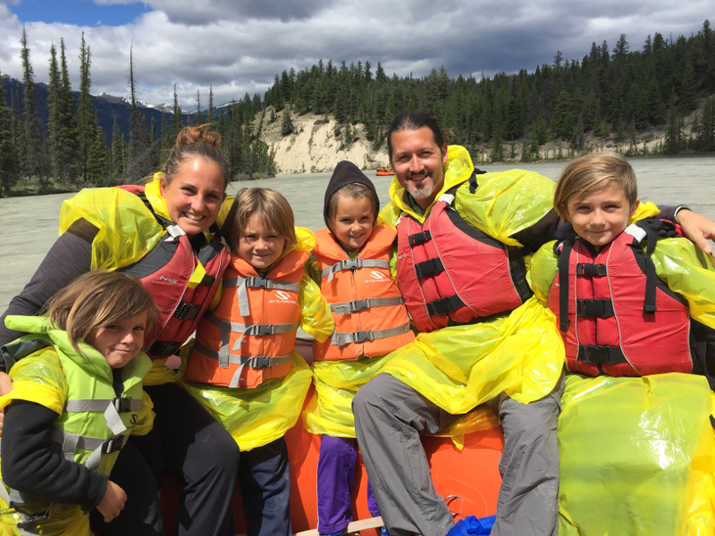 Rafting on the Athabasca River in Jasper National Park
