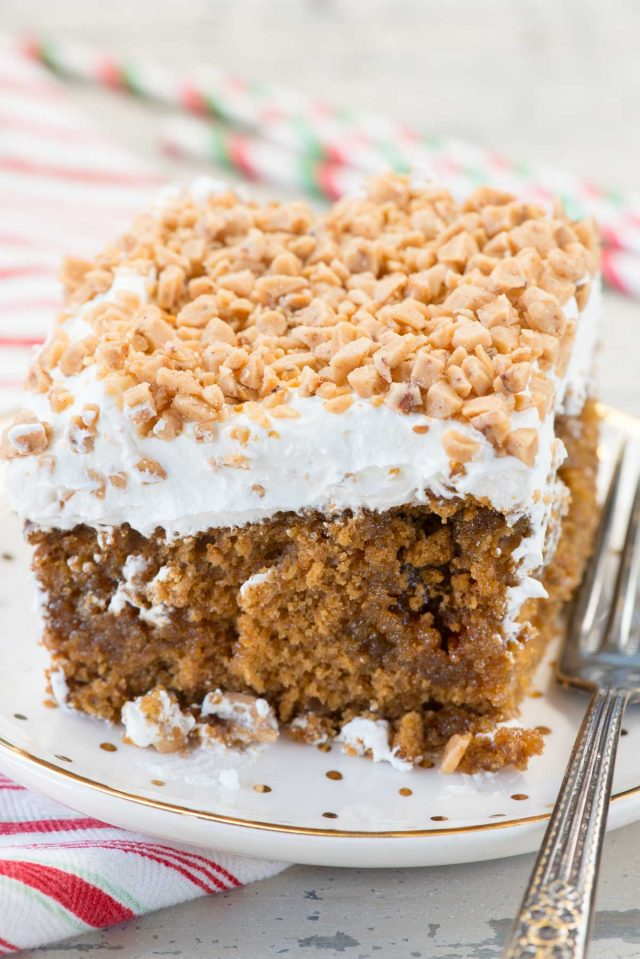 Gingerbread Poke Cake Crazy For Crust
