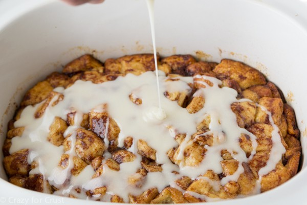 You can make monkey bread in a crock pot using Grands! Cinnamon Rolls!