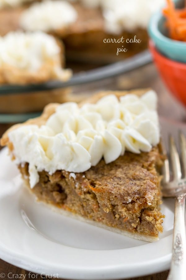 Carrot Cake Pie   Crazy for Crust Carrot Cake Pie  Recipes