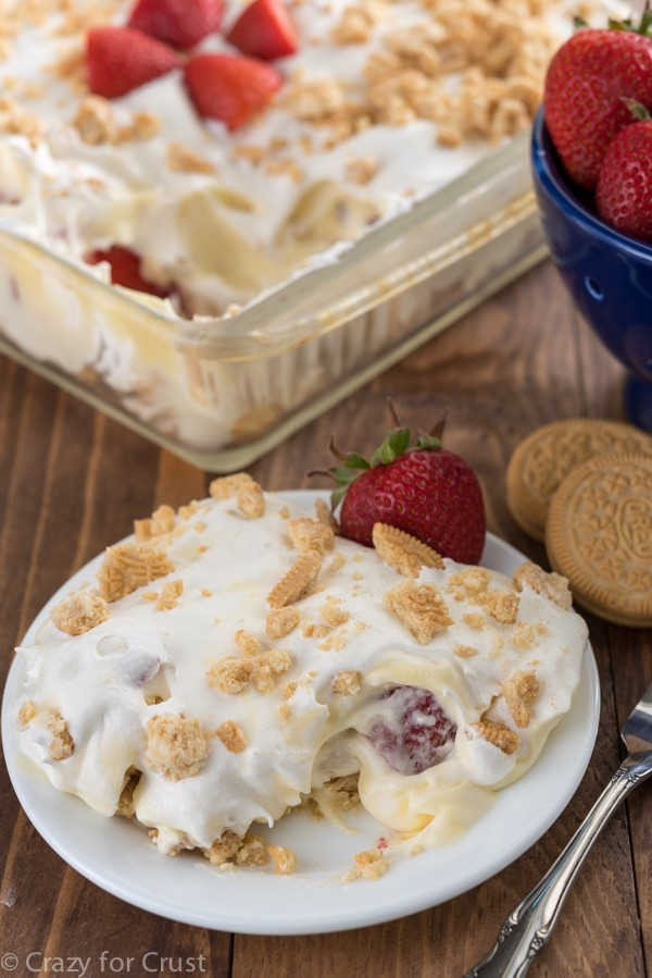 Easy No-Bake Strawberry Shortcake Dessert Lush