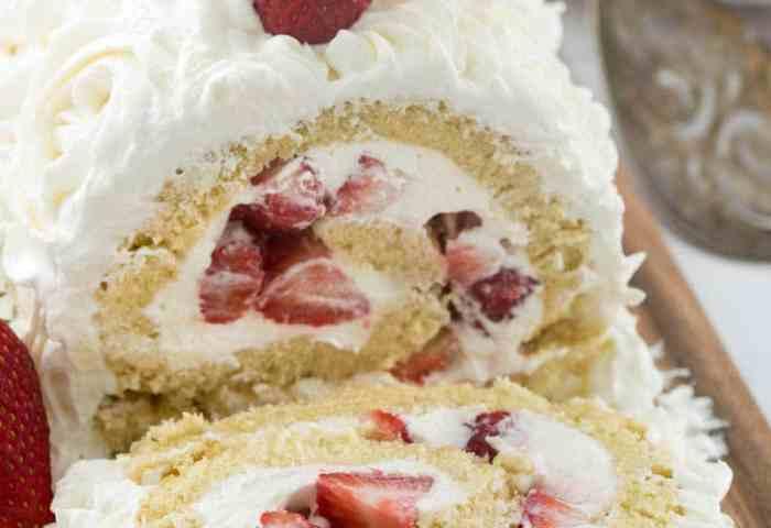 Strawberry Shortcake Cake Roll Crazy For Crust