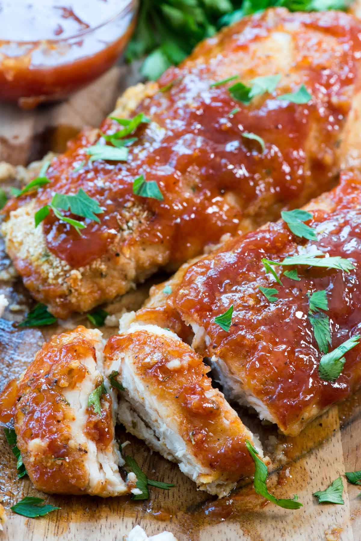 Easy Oven Baked Bbq Chicken Crazy For Crust